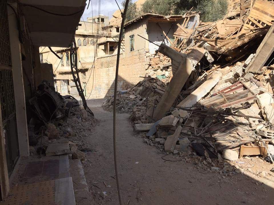 20 غارة جوية و28 برميلاً متفجراً على قرى وادي بردى منذ الصباح