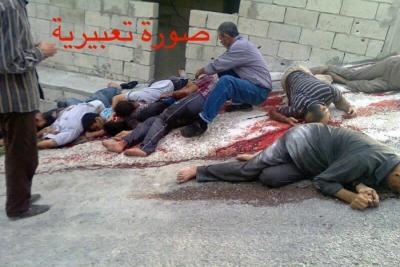 ١٨ شهيداً والرقم قد يكون مرعباً.. الأسد و شبيحته ينفذان إعدامات ميدانية في