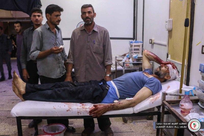 عشرات الصواريخ والقذائف تحرق الغوطة الشرقية منذ الصباح