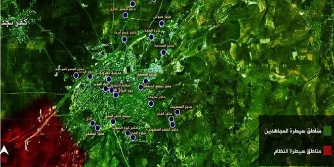 جيش الفتح يحرر مدينة أريحا وجبل الأربعين ويعلن إدلب محررة بالكامل