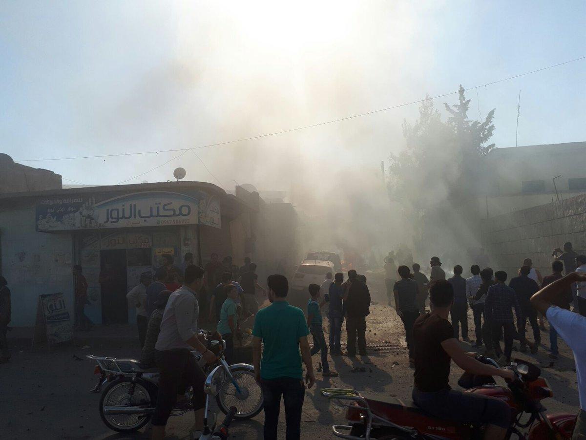 سيارة مفخخة تضرب مدينة إعزاز وتوقع قتلى وجرحى في صفوف المدنيين