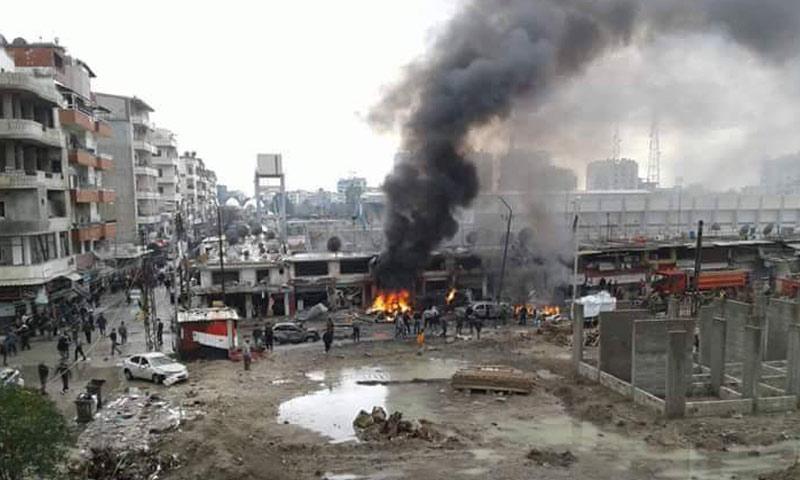 9 قتلى و25 جريحاً نتيجة انفجار سيارة مفخخة في مدينة جبلة بريف اللاذقية