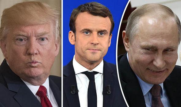 الحرب السورية بين ماكرون وترامب وبوتين