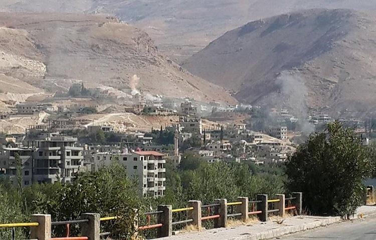 10 صواريخ أرض أرض على وادي بردى، وحزب الله يمنع العائلات من الخروج