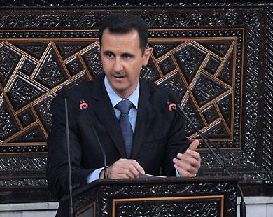 بشار يخطب