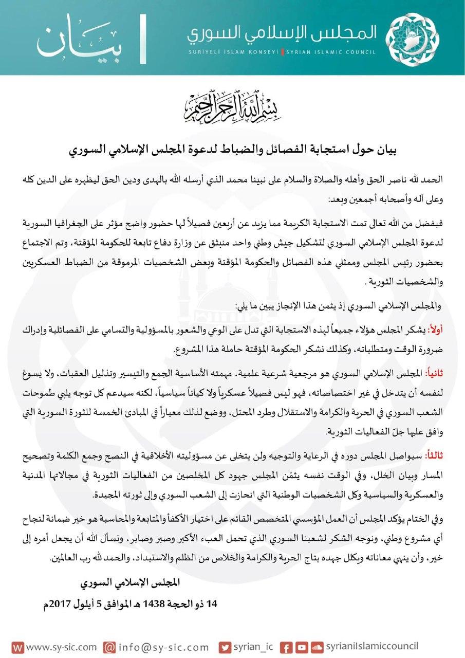 المجلس الإسلامي يشيد باستجابة الفصائل لمبادرته، ويشدّد على مرجعيته الشرعية