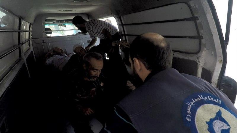 عشرات الصواريخ تنهال على بلدة عين ترما ومجزرة في حمورية بالغوطة الشرقية