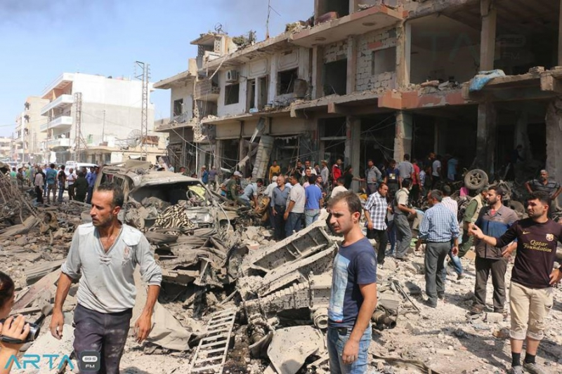 العبدة يلتقي وزير الدولة للشؤون الخارجية القطري ويطلعه على ما يحدث في حلب