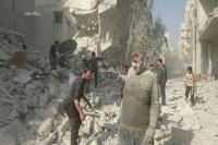 عشرات القتلى والجرحى من النازحين جراء قصف طيران الأسد تجمعاتهم في حلب