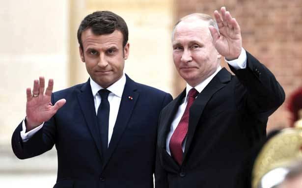 ماكرون خلال لقائه بوتين: أحرزنا تقدماً حول القضية السورية