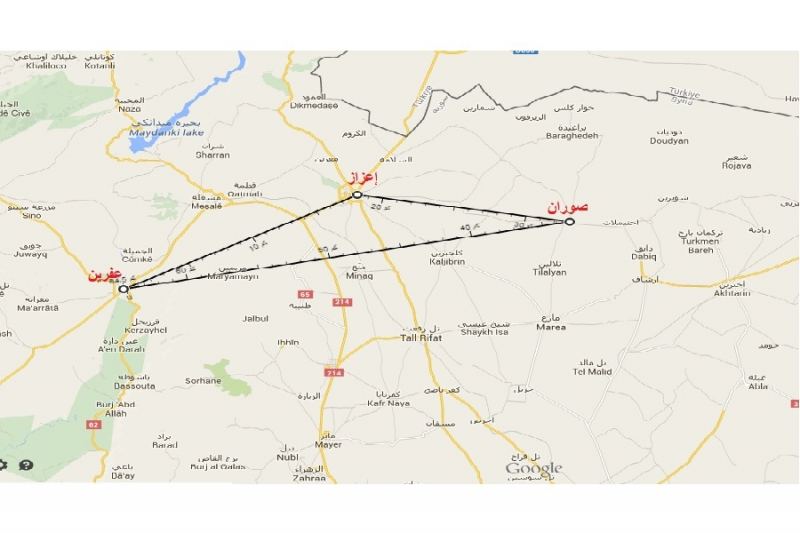 الميليشيات الكردية تغلق الطرق الواصلة بين عفرين وإعزاز وتزرعها بالألغام