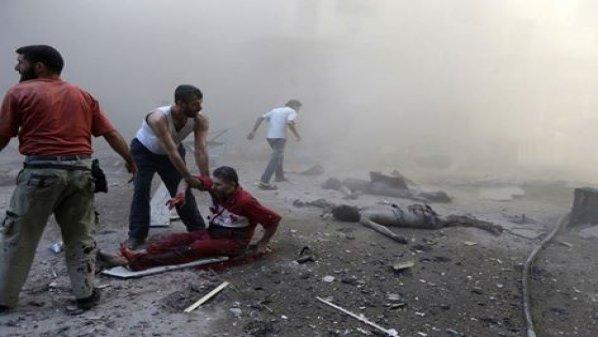 أخبار سوريا_ 30 شهيداً في قصف لقوات الأسد على مدينة عربين بريف دمشق، والحوثيون يتلقون تدريبات عسكرية في سورية_ (8-3- 2015)