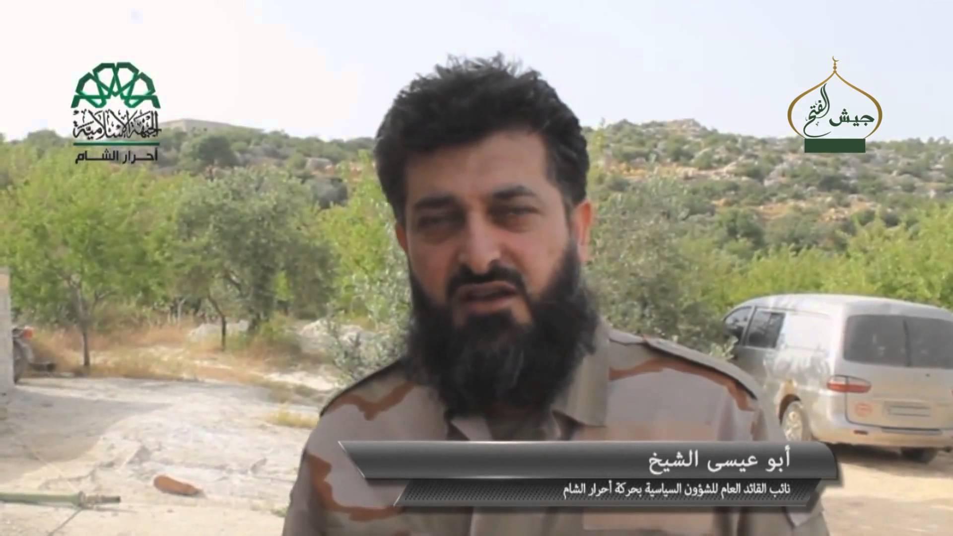 أبو عيسى الشيخ - قائد ألوية صقور الشام - يعلن النفير ضد فتح الشام رداً على بغيها