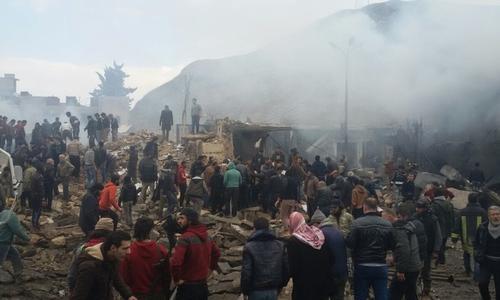 نشرة أخبار سوريا- عشرات الضحايا والجرحى في انفجار استهدف مقراً للجبهة الشامية في إعزاز، و#الهرموش_مقابل_الطيار يلقى تفاعلاً شعبياً وثورياً واسعاً -(6-3-2017)