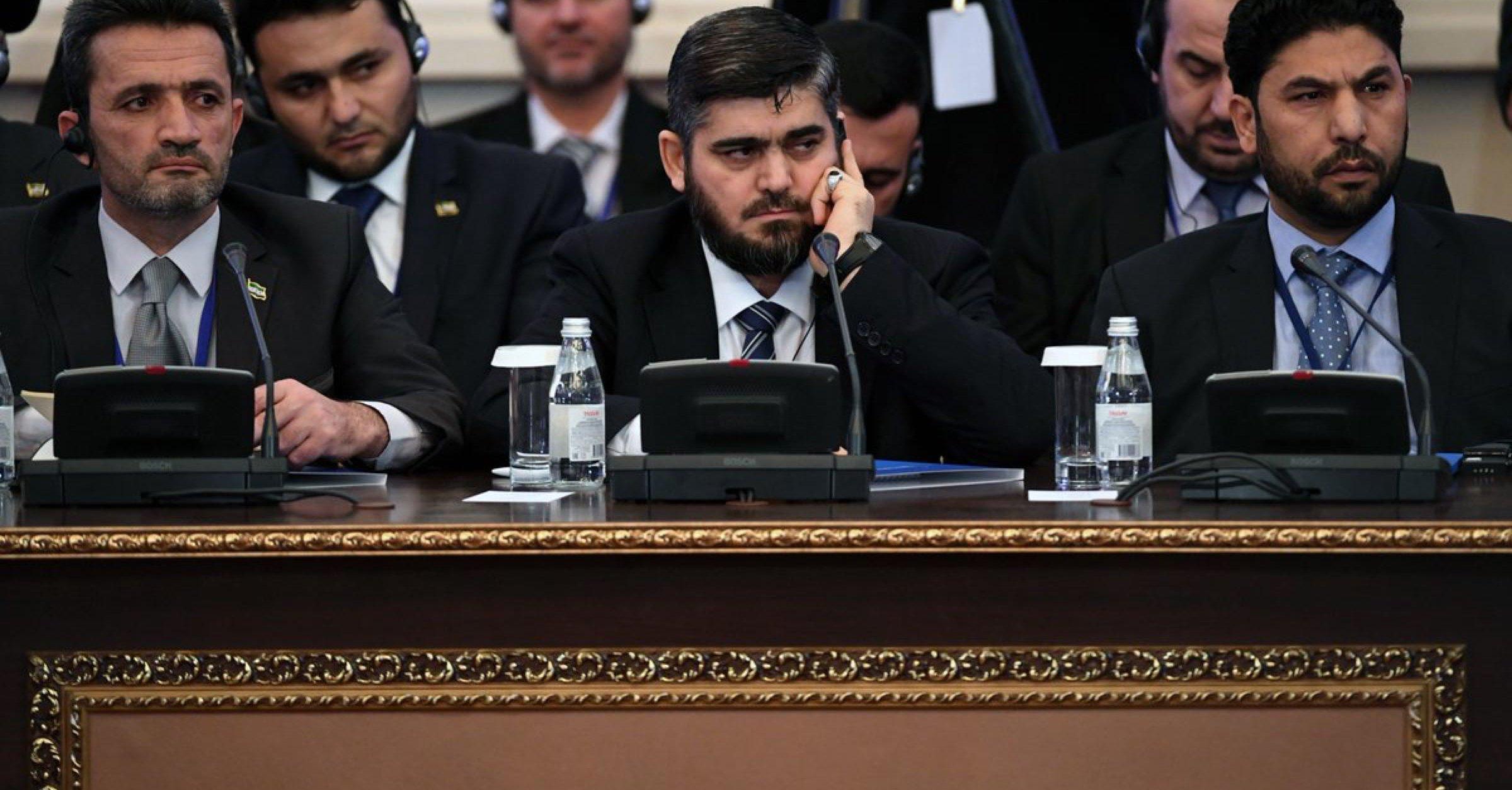 علوش من الأستانة: لم نأتِ إلى المؤتمر من أجل تقاسم السلطة وإنما لإعادة الأمن إلى سوريا