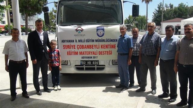 التربية التركية ترسل قافلة مساعدات تعليمية إلى مدينة حلب شمال سورية